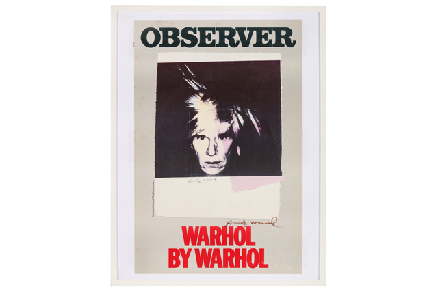 Andy Warhol, 'Observer - Warhol By Warhol', Chiswick Auctions
