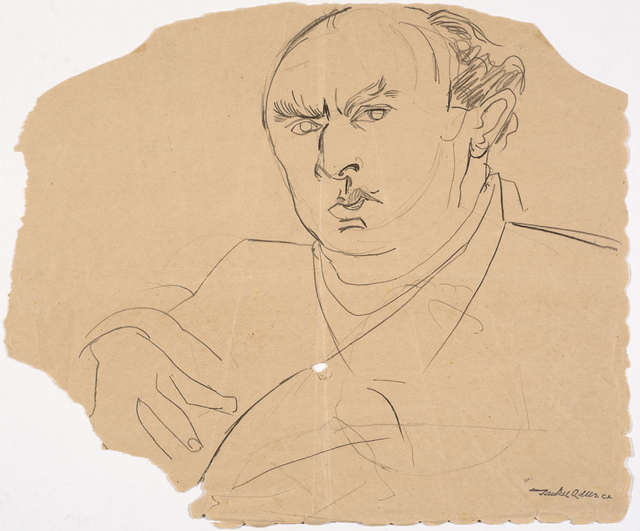 , 'Self-portrait (on torn paper),' Undated, Ben Uri Gallery and Museum