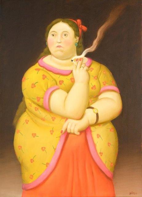 , 'Smoking Woman,' 2011, Galleria Tega