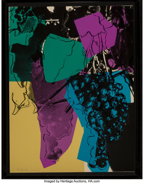 Andy Warhol, 'Grapes', 1979, Print, Screenprint in colors on Strathmore Bristol wove paper, Heritage Auctions