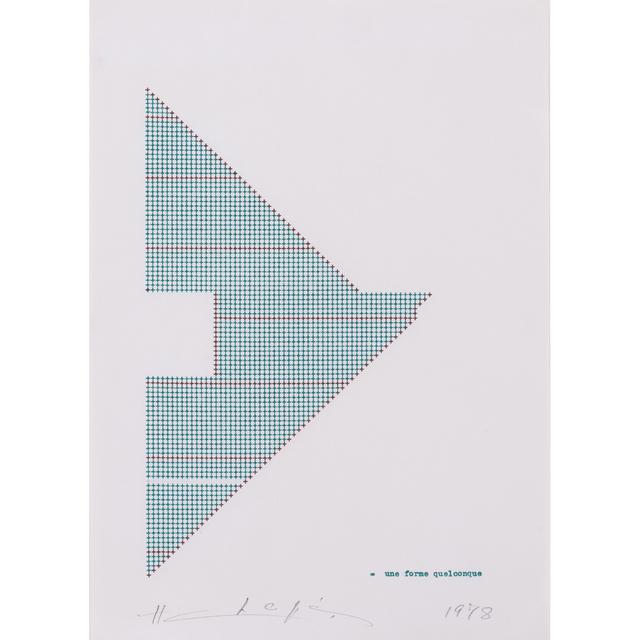 Henri Chopin, 'Une Forme Quelconque', 1978, PIASA