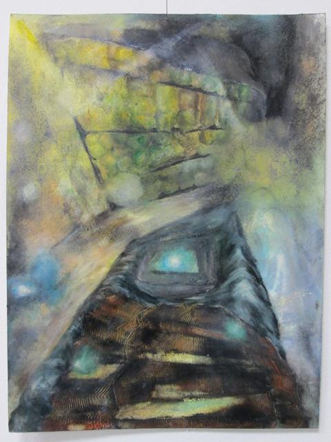 Magdalena West, 'Das Kalkül der Winkel', 2014, Painting, Ölfarben-,Terpentingemisch,Kohle,Wachsemulsion,Pastellkreide,Ölfarbe auf Papier, galerie burster