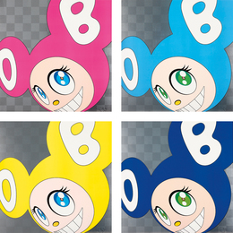 Takashi Murakami, 'And then and then and then and then and then (Pink); And then and then and then and then and then (Aqua Blue); And then and then and then and then and then (Yellow); and And then and then and then and then and then (Blue),' 1999, Phillips: Evening and Day Editions