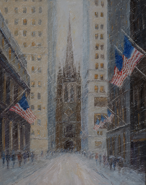 , 'Old Trinity Flags in Winter,' 2015, Rehs Contemporary Galleries