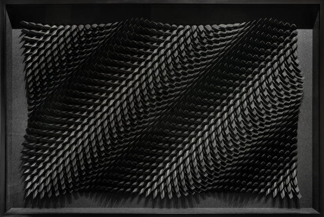 Matt Shlian, 'Unholy 79', 2017, Sculpture, Black paper and iridescent black paper, Paradigm Gallery + Studio
