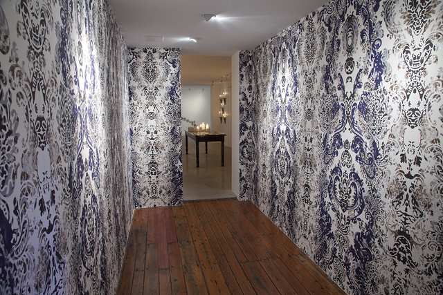 , 'The Lucent Parlor: Damask Wallpaper (Installation View at Cade Tompkins Projects),' 2015, Cade Tompkins Projects