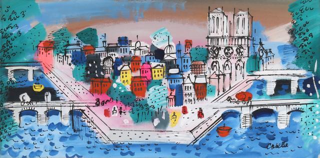 Charles Cobelle, 'View of Ile de la Cité, with Notre Dame', ca. 1958, RoGallery
