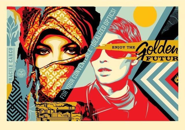Shepard Fairey (OBEY), 'Golden Future Large Format Edition ', 2018, New Union Gallery