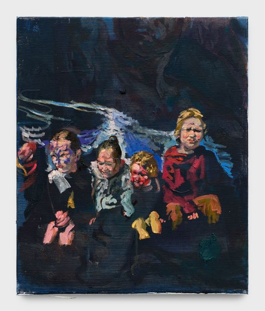 Matthieu Ronsse, 'Children on a speed boat', 2018, Painting, Oil on canvas, Almine Rech