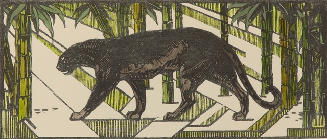 , 'Black Panther in Bamboo I,' 1927, Galerie Dumonteil