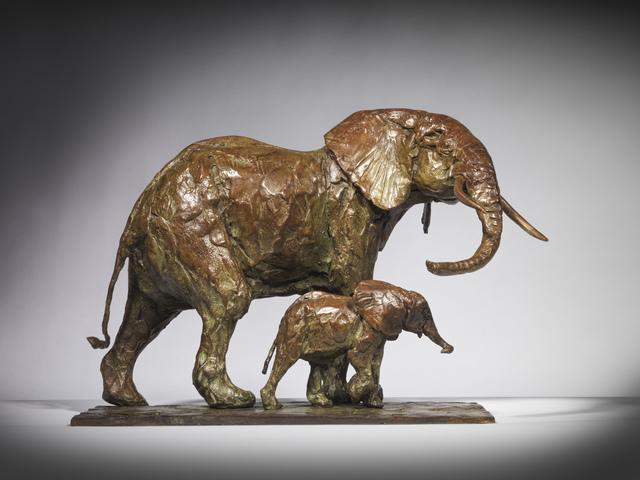 Mark Coreth, 'Matriarch and Calf', 2019, Sculpture, Bronze, Sladmore