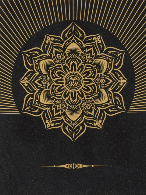 Shepard Fairey (OBEY), 'Obey Lotus Diamond (Black & Gold)', 2013, Forum Auctions