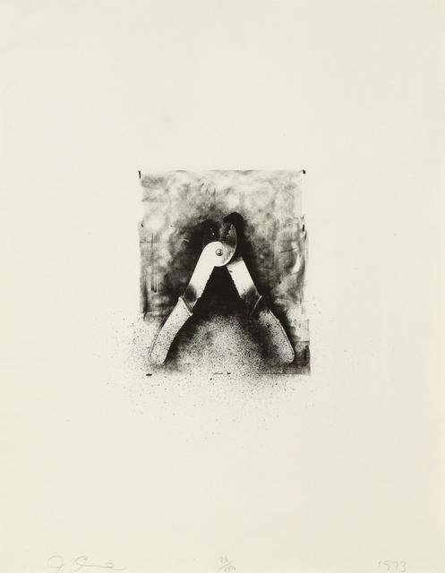 Jim Dine, 'Ten Winter Tools (Strip Pliers)', 1973, Print, Lithograph, Heather James Fine Art Gallery Auction