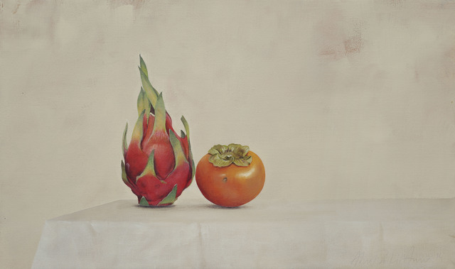 , 'Dragonfruit and Persimmons,' 2015, Galerie Huit
