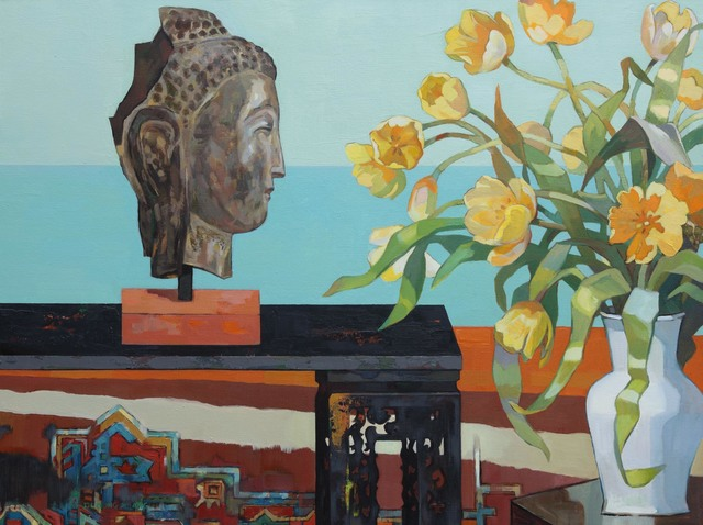 , 'Buddha and Tulips,' 2016, Tao Water Art Gallery
