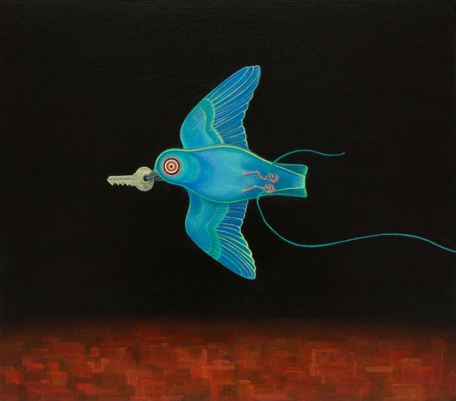 , 'Little Blue Board,' 2017, Rebecca Hossack Art Gallery