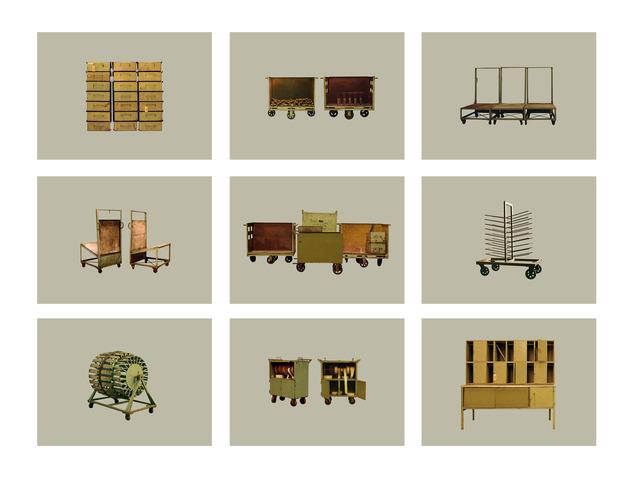 , 'Objetos Inútiles - Polyptic,' 2013, Gachi Prieto