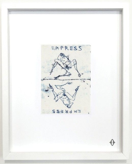 "Tracey Emin, 'THE EMPRESS, From the series ""Contemporary Magic: A Tarot Deck Art Project"" Limited Edition 5th Anniversary Print Collection', 2015, Print, Museum archival digital print embossed with high gloss spot lacquer finish / framed 20 × 16 in 50.8 × 40.6 cm Edition 1/7 + 3AP, ART CAPSUL"