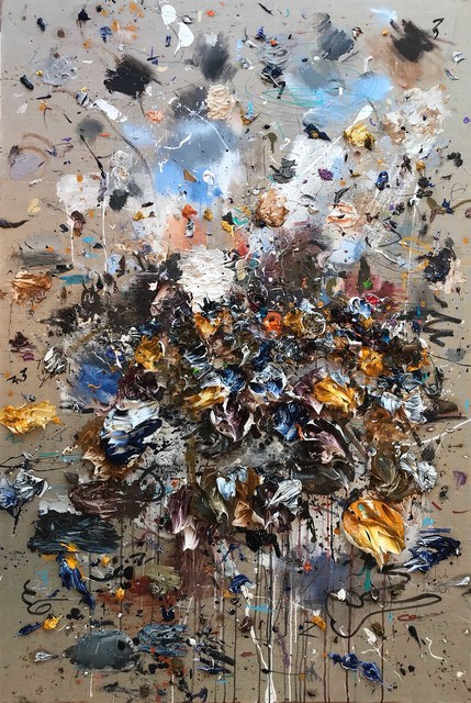 , 'Ocher Blue II,' 2018, Aurora Vigil-Escalera Art Gallery