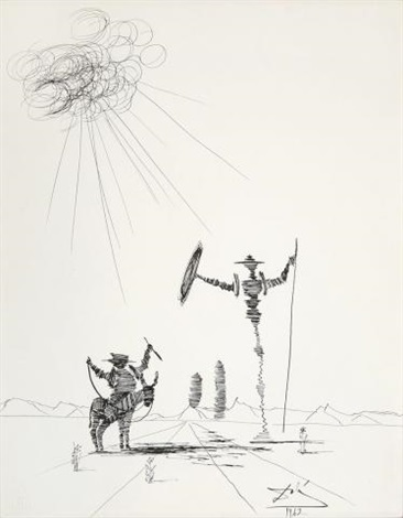 Salvador Dalí, 'Don Quixote ', 1962, Drawing, Collage or other Work on Paper, Ink On Paper, Ground Effect Gallery
