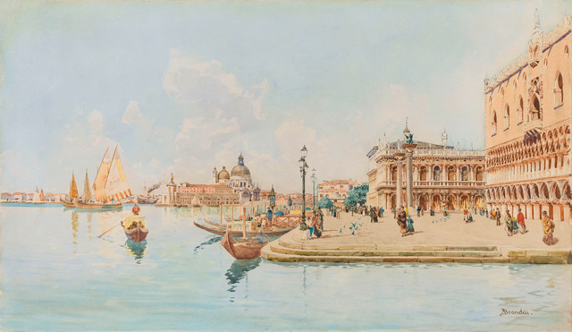 , 'The Basin of Venice with the Doge's Palace,' ca. 1890, Galerie Kovacek & Zetter