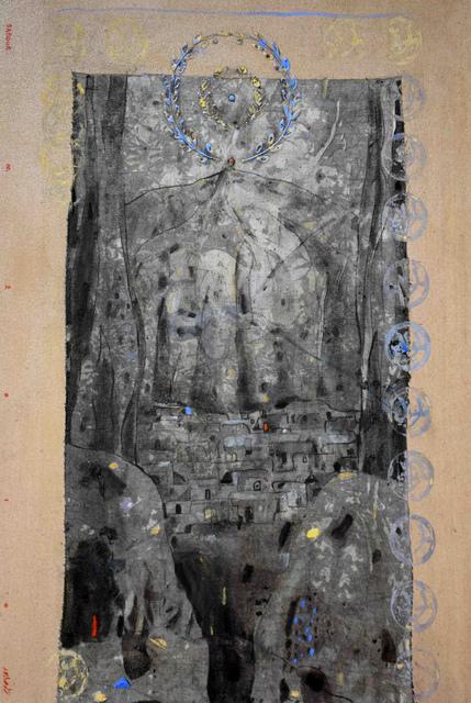 Nizar Sabour, 'Maaloula The Historic Document', 2014, Painting, Mixed media on canvas, Janet Rady Fine Art