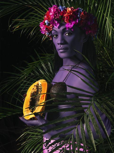 Namsa Leuba, 'La Femme à la Papaye I', 2019, Boogie Wall