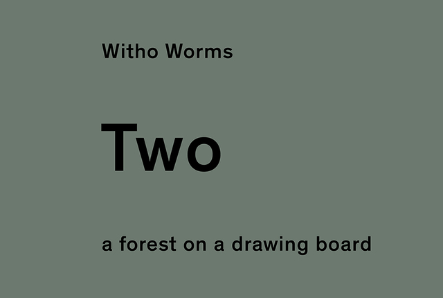 , 'two; a forest on a drawing table. From the 1 two tree project.,' 2013-2016, Johan Deumens Gallery