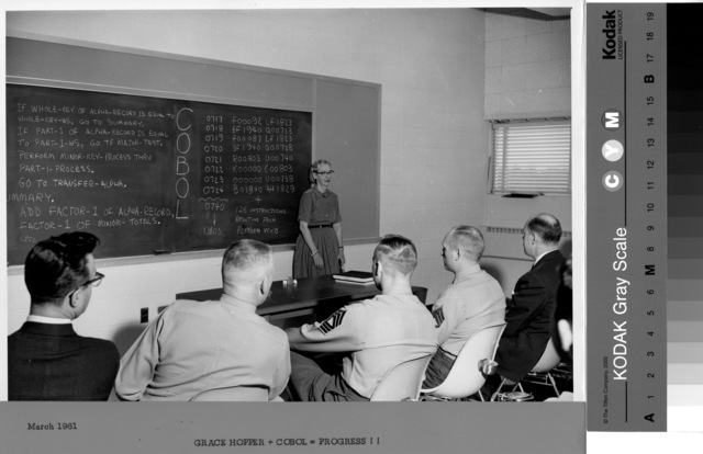 , 'Grace Hopper Teaching Cobol,' 1960s, New York Historical Society