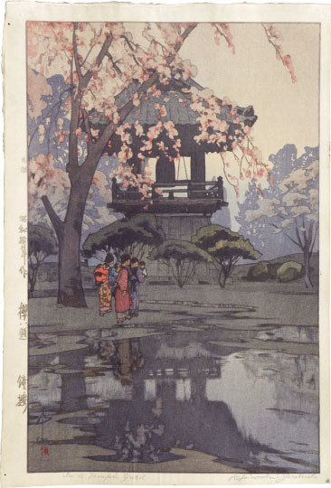 Yoshida Hiroshi, 'Eight Scenes of Cherry Blossoms: In a Temple Yard', ca. 1935, Scholten Japanese Art