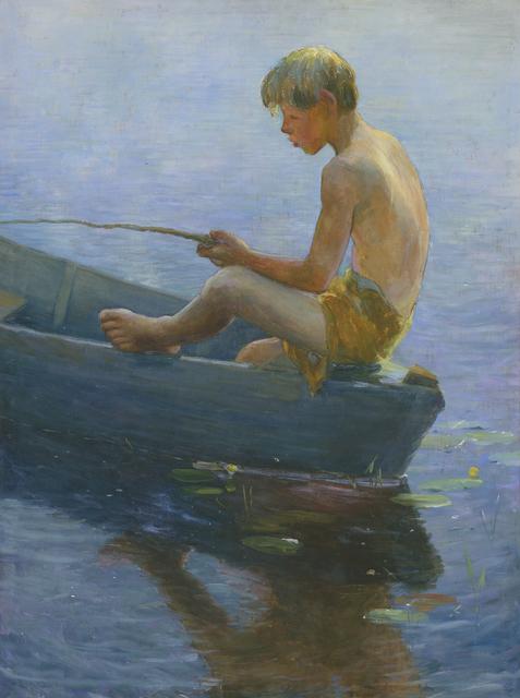 Adam Emory Albright, 'Boy Sitting in Boat', Heather James Fine Art