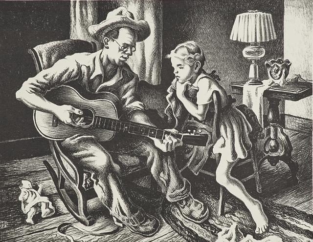 Thomas Hart Benton, 'The Music Lesson', 1943, Print, Lithograph, Rago/Wright
