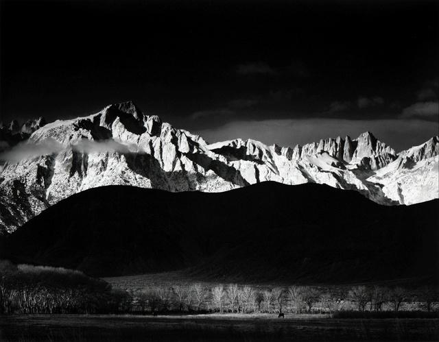 Ansel Adams, 'Winter Sunrise, The Sierra Nevada, From Lone Pine, California', 1944 (Printed 1980), Peter Fetterman Gallery