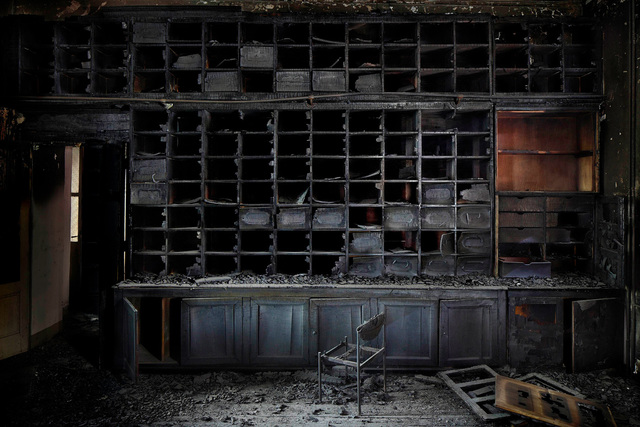 , 'The Burnt Library,' 2011, Galerie Dumonteil