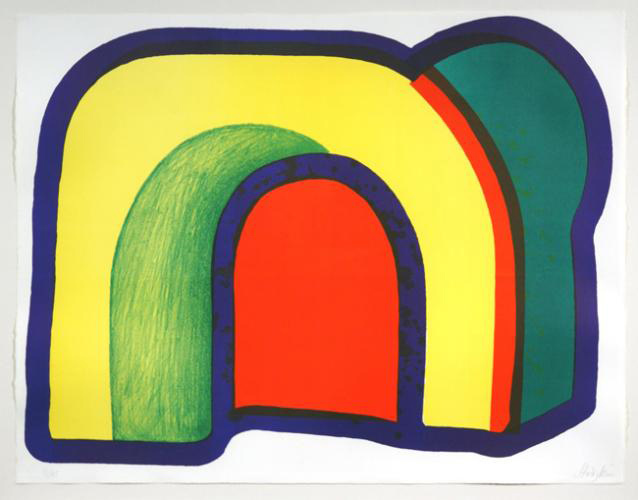 Howard Hodgkin, 'COMPOSITION WITH RED (ARCH) (HEENK 10)', 1970, Artsnap