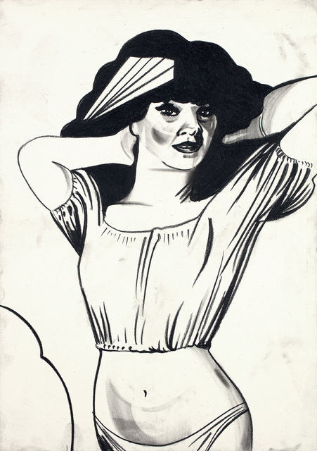 Tomoo Gokita, 'Falling in love with her is hell', 1999, Drawing, Collage or other Work on Paper, Conté on paper, Phillips