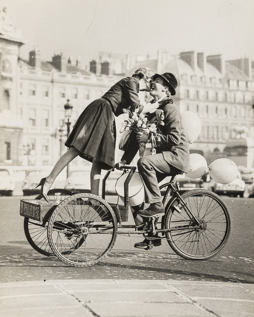 Norman Parkinson, 'Couple on Tricycle with Tulips (Virginia Wynne Thomas); Couple on Lambretta (Judith Dent)', 1959, Forum Auctions