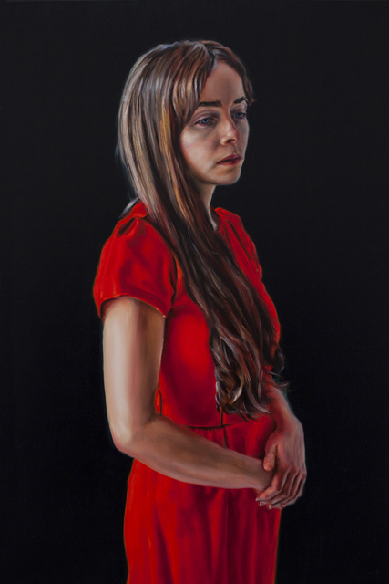 , 'Photogénie - Figure in Red', (Number 3 from a series of 12 paintings) ,' 2018, Gallery Baton