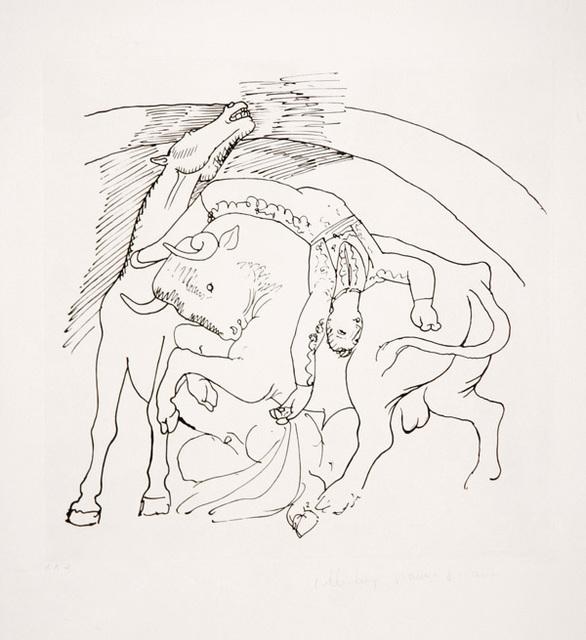 Pablo Picasso, 'Taureau et Cheval, 1921', 1979-1982, Print, Lithograph on Arches paper, RoGallery