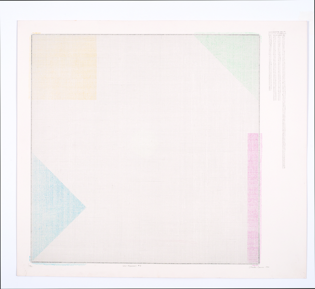 , 'Color Regression #1,' 1978, Hammer Museum