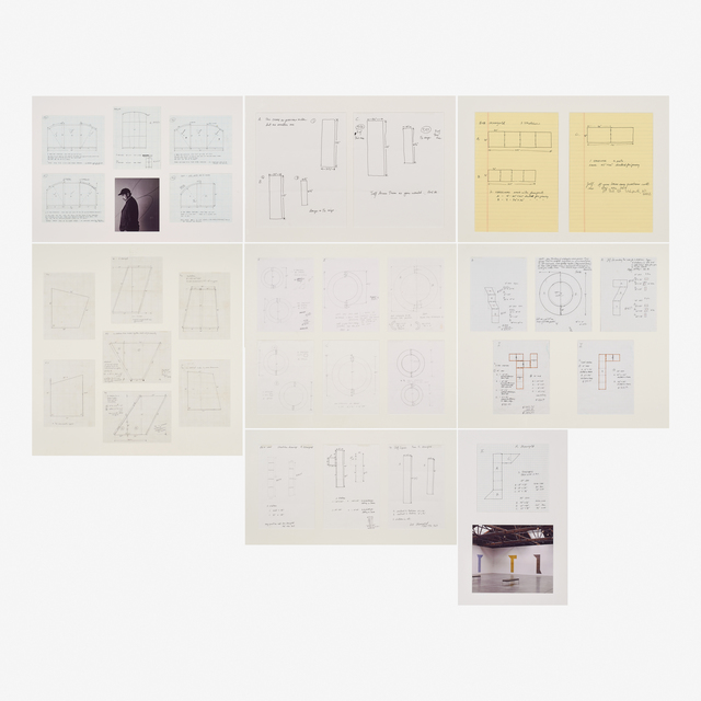 Robert Mangold, 'Untitled, Ten framed preliminary drawings for paintings', Rago