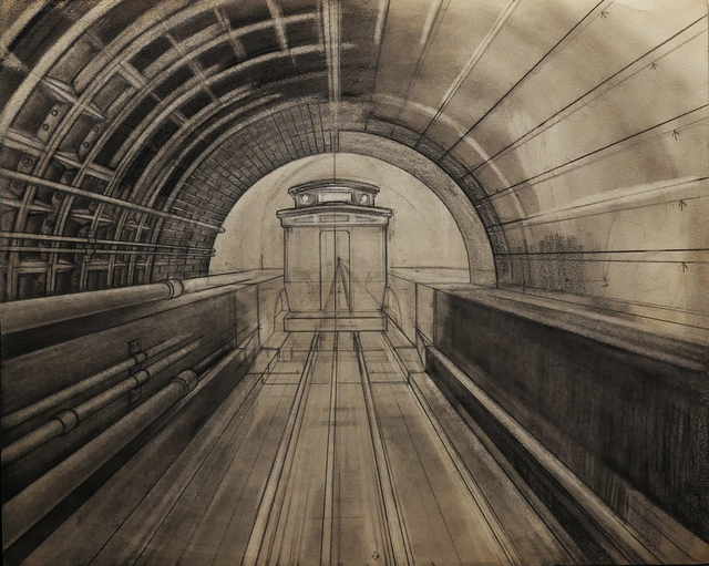Renaldo Kuhler, 'The Oriental, Eastbound Tube Cable Car in Tunnel', ca. 1960, Ricco/Maresca Gallery