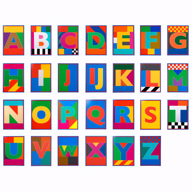 , 'Dazzle Alphabet Box Set,' 2017, Lawrence Alkin Gallery