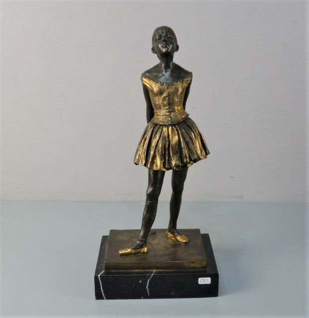 Edgar Degas, 'La Petite Danseuse de quatorze ans', 20th Century, Sculpture, Bronze with light brown patina & gold-colored accents on marble pedestal, Samhart Gallery