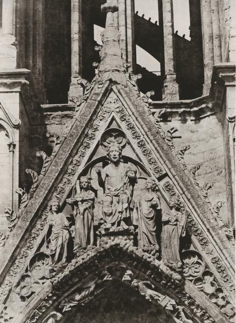 Jean-Louis-Henri Le Secq, 'Reims. Cathédrale Notre-Dame. Tour Nord. 2e étage du côté oriental, la galerie des rois', 1851c/1870, Contemporary Works/Vintage Works