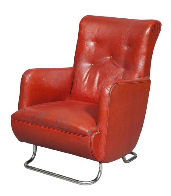 'Kem Weber Chromed Metal Upholstered Armchair', Doyle