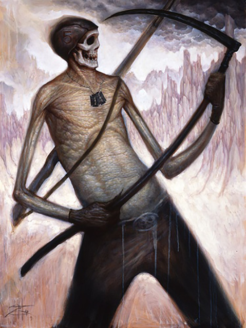 , 'Death Playing Air Guitar on a Scythe,' 2009, Gregorio Escalante Gallery