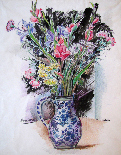 , 'Still Life with Gladioli, Carnations and Irises,' ca. 1991, The Scottish Gallery