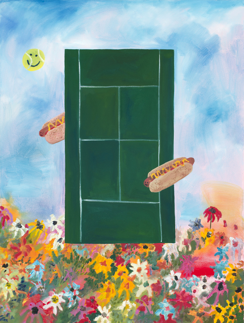 , 'If I Played Tennis I Would Eat Hot Dogs at the Same Time,' 2015, Projet Pangée