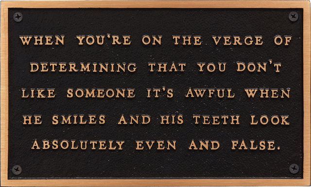 Jenny Holzer, 'When You're on the Verge of Determining, from The Living Series', 1980-82, Phillips